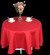 Weddecor Round Christmas Table Cloth, Red