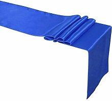 Weddecor Royal Blue Satin Table Runner For Wedding
