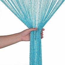 Weddecor Turquoise String Curtains Glitter Fringe