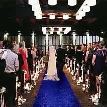 Wedding Aisle Runner 2FTx15FT Royal Blue Sequin