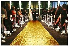 Wedding Aisle Runner Gold 2FTx15FT Glitter Aisle