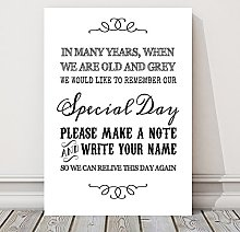 Wedding Guest Book or Wishing Tree Table Sign (FF)