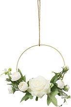 Wedding Hoop Wreath Wall Art, Decorative Wreath