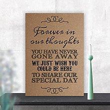 Wedding In Loving Memory Memorial Table Sign (CC)