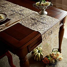 Wedding Lace Table Runner Champagne Color,