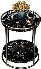 WEDF Nightstand Wrought Iron Corner Table Small