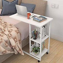 WEDF Table Sofa Side Table with Storage C-shape