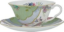Wedgwood Butterfly Bloom Cup and Saucer Set, Green
