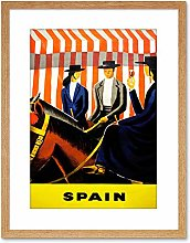 Wee Blue Coo 9x7 '' TRAVEL SPAIN HORSE