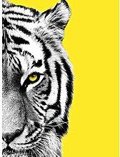 Wee Blue Coo Close up Beasties Tiger Art Print