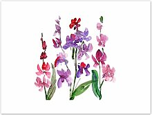 Wee Blue Coo Flower Orchid Watercolour Art Print