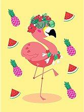 Wee Blue Coo Kawaii Flamingo Party Tropical Art