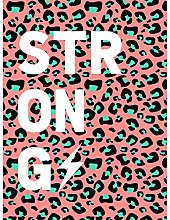 Wee Blue Coo Leopard Coral And Green Strong Words