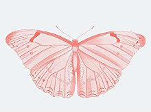 Wee Blue Coo Living Coral Butterfly Art Print
