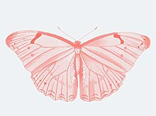 Wee Blue Coo Living Coral Butterfly Large Wall Art