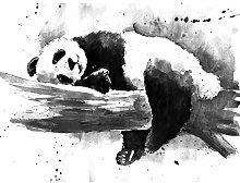 Wee Blue Coo Panda Sleeping Watercolour Large Wall
