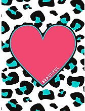 Wee Blue Coo Pink Teal Leopard Reverse Beautiful
