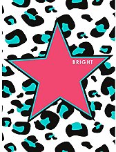 Wee Blue Coo Pink Teal Leopard Reverse Bright Art