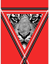 Wee Blue Coo Triangle Tiger Large Wall Art Print