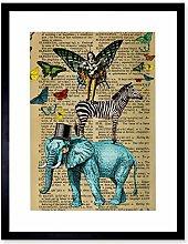 Wee Blue Coo Upcycle Elephant Lute Fairy Zebra