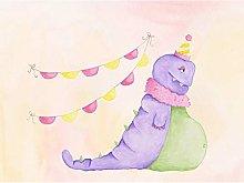 Wee Wild Monsters Marigold Kids Art Print Canvas