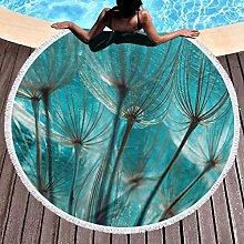 Weed Printed Round Beach Towel Yoga Picnic Mat