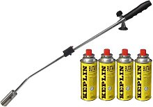 WEED WAND + 8 BUTANE GAS CANISTERS BLOWTORCH