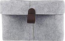 Weeie Felt Storage Basket - for Home Light gray