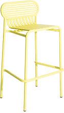 Week-End Bar stool - / Aluminium - H 80 cm by