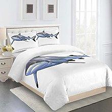 WEFDVBC 3D Print Kids duvet cover 71x78inch Shark