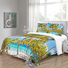 WEFDVBC Bedroom Bedding 78x78inch Beaches plants