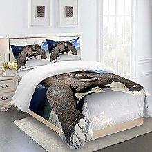 WEFDVBC Bedroom Bedding 91x87inch Beach turtle sky