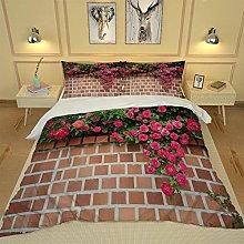 WEFDVBC Bedroom Bedding 91x87inch Wall flowers