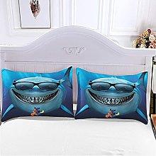 WEFDVBC Duvet Cover Teen Bedding 59x78 inch Shark
