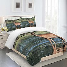 WEFDVBC Quilt covers king size 87x94inch Grass