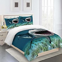WEFDVBC Quilt covers king size 91x87inch Shark
