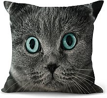 WEIANG Animal Cushion Covers Cute Cat Dog Cotton