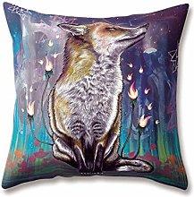 WEIANG Animal Cushion Covers Hand-drawn Cartoon