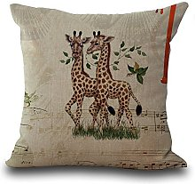 WEIANG Cotton Linen Home Cushions Cover Pillowcase