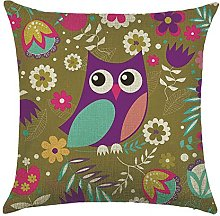 WEIANG Cute Bird Cartoon Owl Cushion Covers Thick