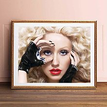 Weibing Christina Aguilera Music Poster Singer