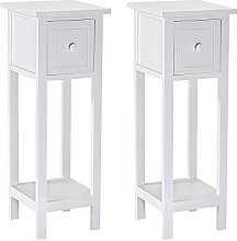 WEIBO Pairs of Bedroom Furniture White Wooden
