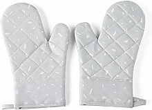 weichuang Oven gloves 1 Pair Rubber Pad Insulation