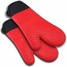 weichuang Oven gloves 2pcs Red Silicone Kitchen