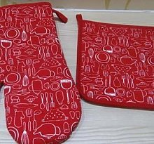 weichuang Oven gloves Oven Mitt with Pot Holder
