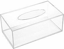 Acrylic Napkin Holder Transparent Box Tissue Storage Rack Home Hotel Accessories