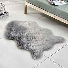 WEIDD Faux Fur Sheepskin Rug Faux Fleece Fluffy