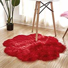 WEIDD Soft Fluffy Faux Fur Sheepskin Area Rug for