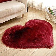 WEIDD Winter Warm Lambskin Floor Mat Woolen Floor