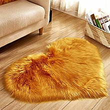 WEIDD Winter Warm Lambskin Floor Mat Woolen Floor